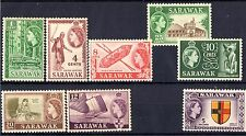 SARAWAK 1955-57 /MNH/ SC# 197, 199, 201--203, 206, 206,  211 / ELIZABETH II
