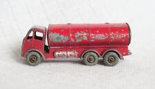 VINTAGE MATCHBOX LESNEY #11B E.R.F. ESSO ROAD TANKER ORIGINAL DIECAST RED/SILVER