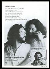 1979 Airto & Flora Purim photo Touching You vintage print ad