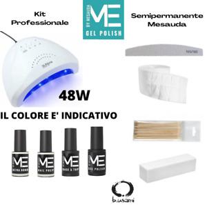 KIT SEMIPERMANENTE COMPLETO MESAUDA PROFESSIONALE CON LAMPAD UV LED 120W PEGGY S