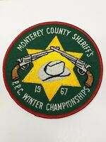 Vintage Monterey County, CA Sheriff's Dept. PPC Winter Championships 1967 Patch