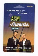 LUKE BRYAN /DIERKS BENTLEY ACM Country Music MGM GRAND Las Vegas Room KEY Casino