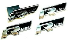 R Line Chrome & Noir Badge Set Front critiquée Grill client 32 R VW Golf Polo