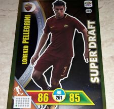 CARD ADRENALYN CALCIATORI PANINI 2017/18 ROMA PELLEGRINI 428 SUPER DRAFT