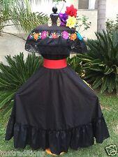Mexican Dress, Fiesta,5 De Mayo,Day of the Dead  2 Piece.Vestido Mexicana Fiesta