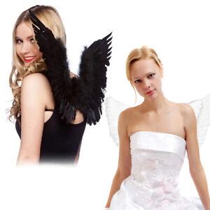 Feder Engelsflügel Kostüm Kostüm Kind Erwachsene Weiß Schwarz Christmes HE
