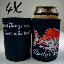 4x Stubby Holder Beer Cooler Drink Novelty Gift  Dad Fishing Day Snapper Reedy's