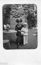 BK226 Carte Photo vintage card RPPC Femme mode fashion enfant Marin costume