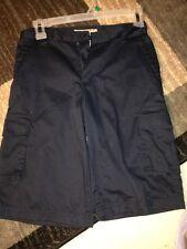 LR Scoop Boys Size12 Navy Uniform Cargo Shorts