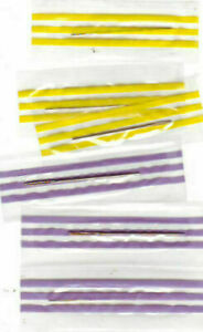 6 (SIX) Gold Plated X-Stitch Needles - Size 24 OR Size 26  OR Mixture! Wrapped