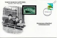WWII 1945 Capture of Tokyo Rose (Propaganada) Stamp Cover (Japan / Danbury Mint)