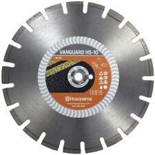 Husqvarna Vanguard HS10 Diamond Blade 14-inch Asphalt Green Concrete Block