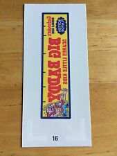 NEW TOPPS WACKY PACKAGES OLD SCHOOL 5 5th SERIES TATTOO BIG BADDY 16 BULLY 70'S