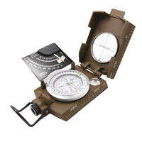 Professional Military Army Metal Sighting Compass w/Inclinometer Green Color H&P