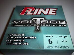 P-Line Voltage 6-LB TEST TOURNAMENT GRADE 300 yds Clear Copolymer Fishing Line