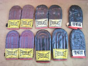 VINTAGE LOT EVERLAST LEATHER/ OTHER BOXING SPEED-BAG PUNCHING GLOVES 4308 43106