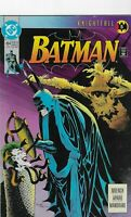 Batman Comic #494 Knightfall 5 DC Joker Scarecrow June 1993