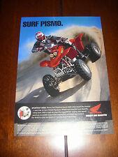 HONDA 400EX - SURF PISMO - SAND DUNES    - 2002 ORIGINAL AD