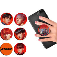 Ateez Adjustable Phone Grip Holder Stand Ring Swappable