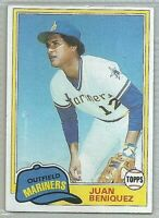 1981 TOPPS JUAN BENIQUEZ SEATTLE MARINERS #306 BASEBALL CARD