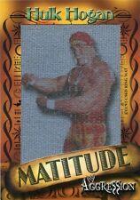 2003 FLEER WWE MATITUDE HULK HOGAN EVENT USED RING MAT