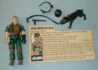 1984 GI Joe Dog Handler Mutt K9 Junkyard v1 Figures w/ File Card *Near Complete