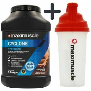 Maximuscle Cyclone Protein Powder 1.26kg Whey Protein Shake Gym Workout + Shaker