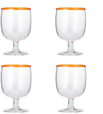 SANGRIA DRINKWARE SET OF 4 GLASSES, MANDARIN *NIOB