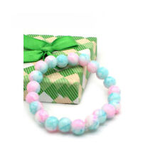 12mm Mixed Natural Round Glass Beads   Agate Bracelet