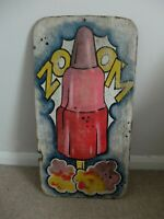 Original 1960s/70s Zoom ice lolly hand-painted shop advert board