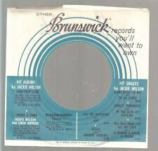 Company Sleeve 45 BRUNSWICK White w/ Blue Circles and Black Lettering Jakie Wils