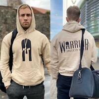 Warrior Gym Wear (Desert Sand) - Gym Hoodie Sweatshirt Men Women MMA BJJ Boxing