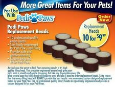 10 Pack Refill Emery Boards Wheels for Pedi Paws Pet Nail Trimmer System PediPaw