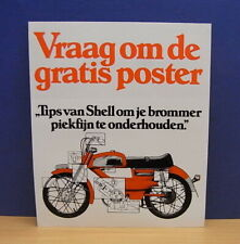 1x Sticker - aufkleber Shell / Brommer with org.back 80's (0434)