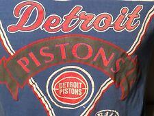 1988 Detroit Pistons NBA Basketball Club T Shirt L Bad Boys True Vintage Nutmeg