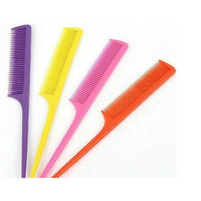 10Pcs Candy Colors Hair Make Care Combs Styling Pointed Rat Tail Comb