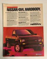1986 Nissan SE 4x4 Hardbody Pick Up Truck Vintage Print Ad Advertisement