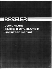 Beseler Dual Mode Slide Duplicator Instruction Manual photocopy