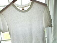 d43a9906 Vtg 80s Fruit of the Loom Blank Plain White Streetwear Surf Skate T Shirt M