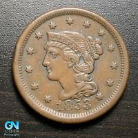 1853 Braided Hair Large Cent --  MAKE US AN OFFER!  #G8847