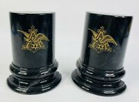 Vintage Black Marble Book Ends Made For Anheuser-Busch Employees USA RARE!