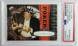2009 Press Pass Wheels #81 Doyle Brunson Signed Card Autograph Auto PSA Poker