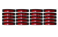 20pcs x 6 LED Side Markers RED Indicators Lights Truck Lorry Trailer Bus Van 12V
