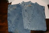 Lot of 2 Carhartt Flannel Lined Jeans Mens 40x32 Blue Denim Workwear  Pants