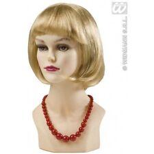 Mesdames Grand Rouge un collier de perles années 70 Vintage French ROBE Fantaisie Bijoux