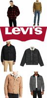 Levis Sherpa Jacket Denim Trucker Jackets Black Blue Gray Khaki Beige