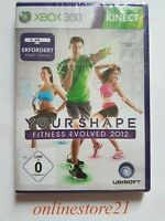 Your Shape Fitness Evolved 2012 Xbox 360 NEU Deutsch Erfordert Kinect -Sensor