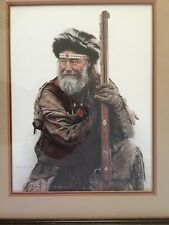 Vintage James Bama Mountain Man with Musket Gun Signed Limited Edition Print