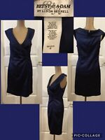 NEW! Betsy & Adam Cocktail Party Dress Size 10 Dark Blue Retail $160 NEW / TAGS!