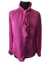 Beautiful Ghost Pink Pussy Bow Blouse Size S